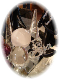 Psychic Readings Crystals and crystal Balls.